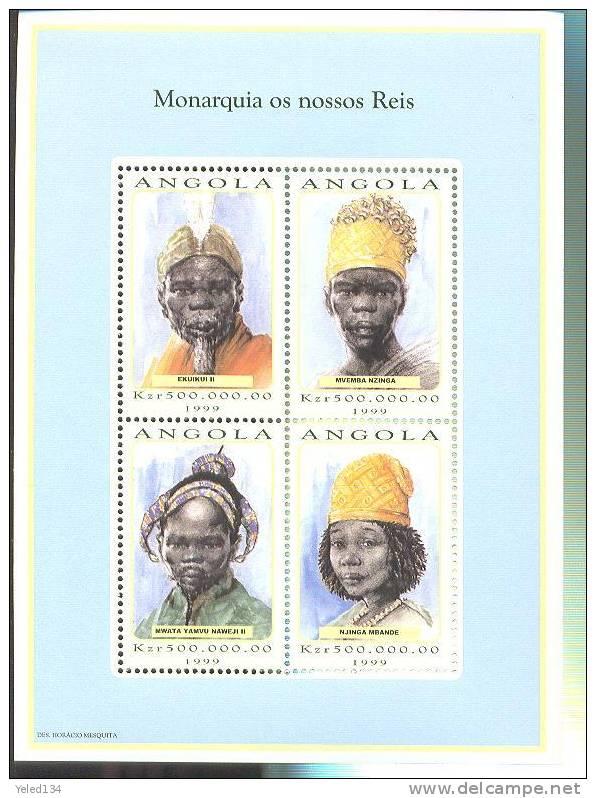 MNH ANGOLA #1084 : MINI SHEET TRIBAL KINGS - Antigua En Barbuda (1981-...)