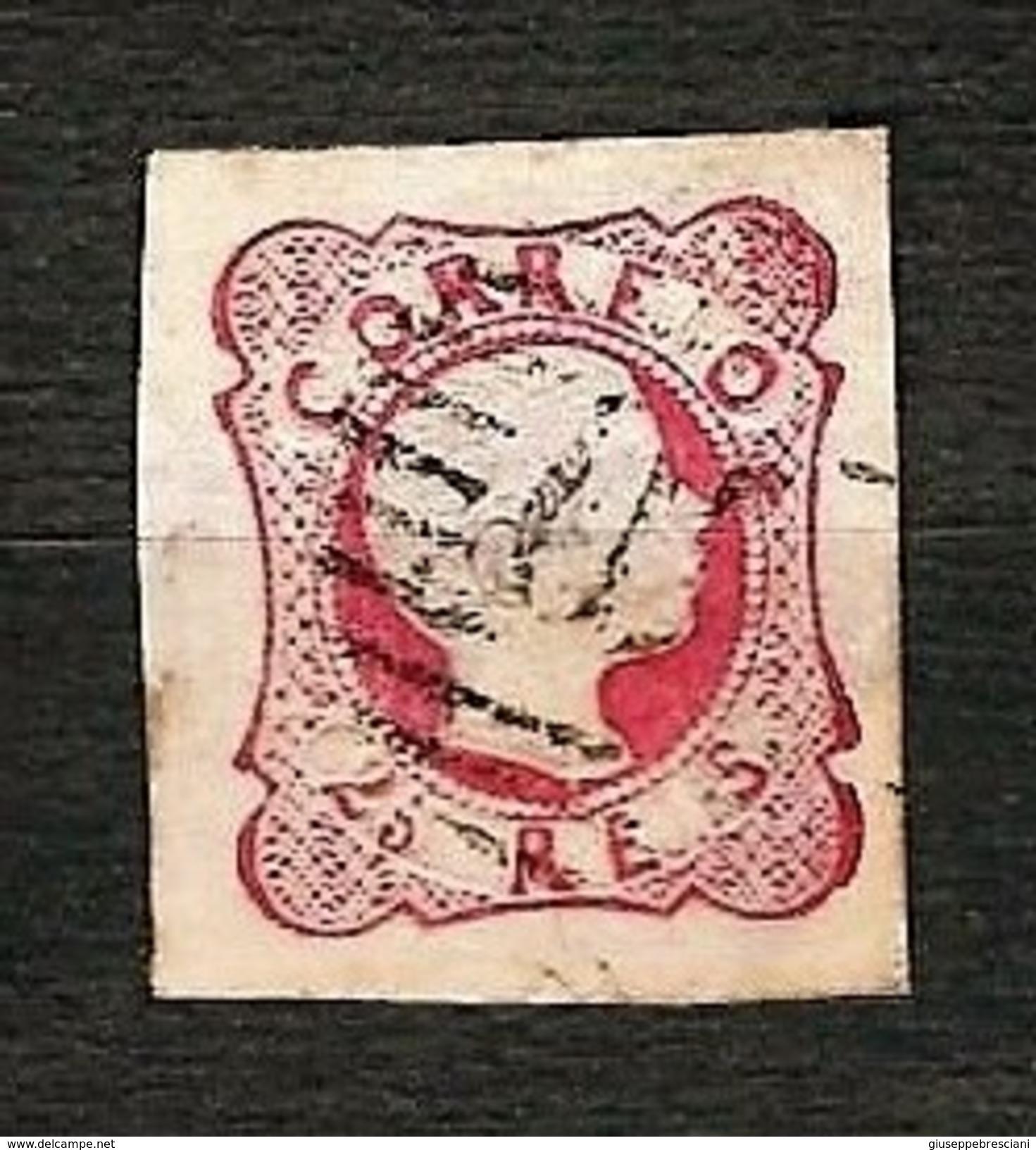 PORTUGAL 1858 - Pedro V - 25 Reis - Yv:PT 12 - 1855-1858 : D.Pedro V