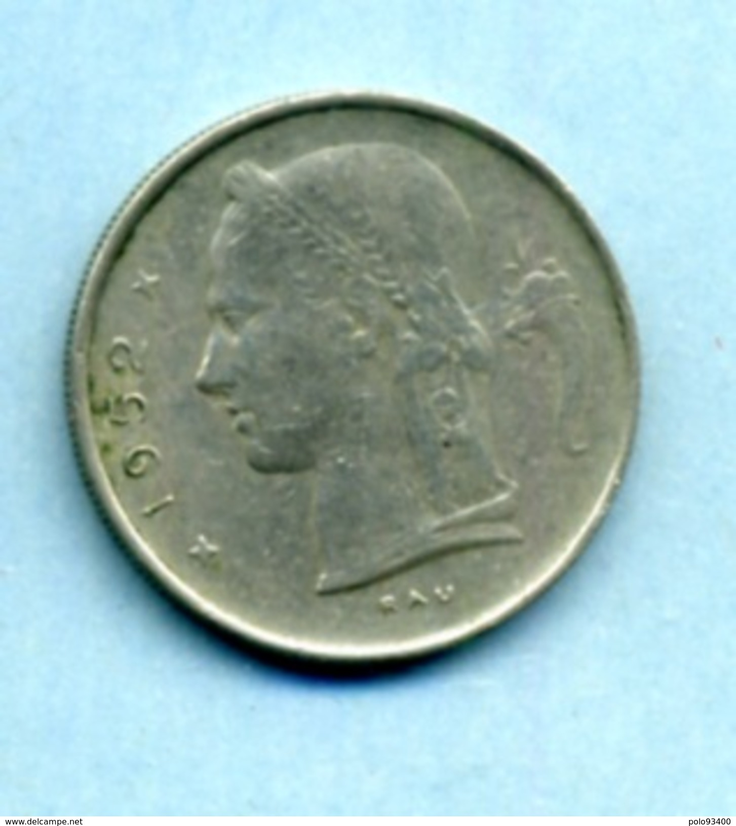 1952  1 FRANC BELGIË - 1934-1945: Leopold III