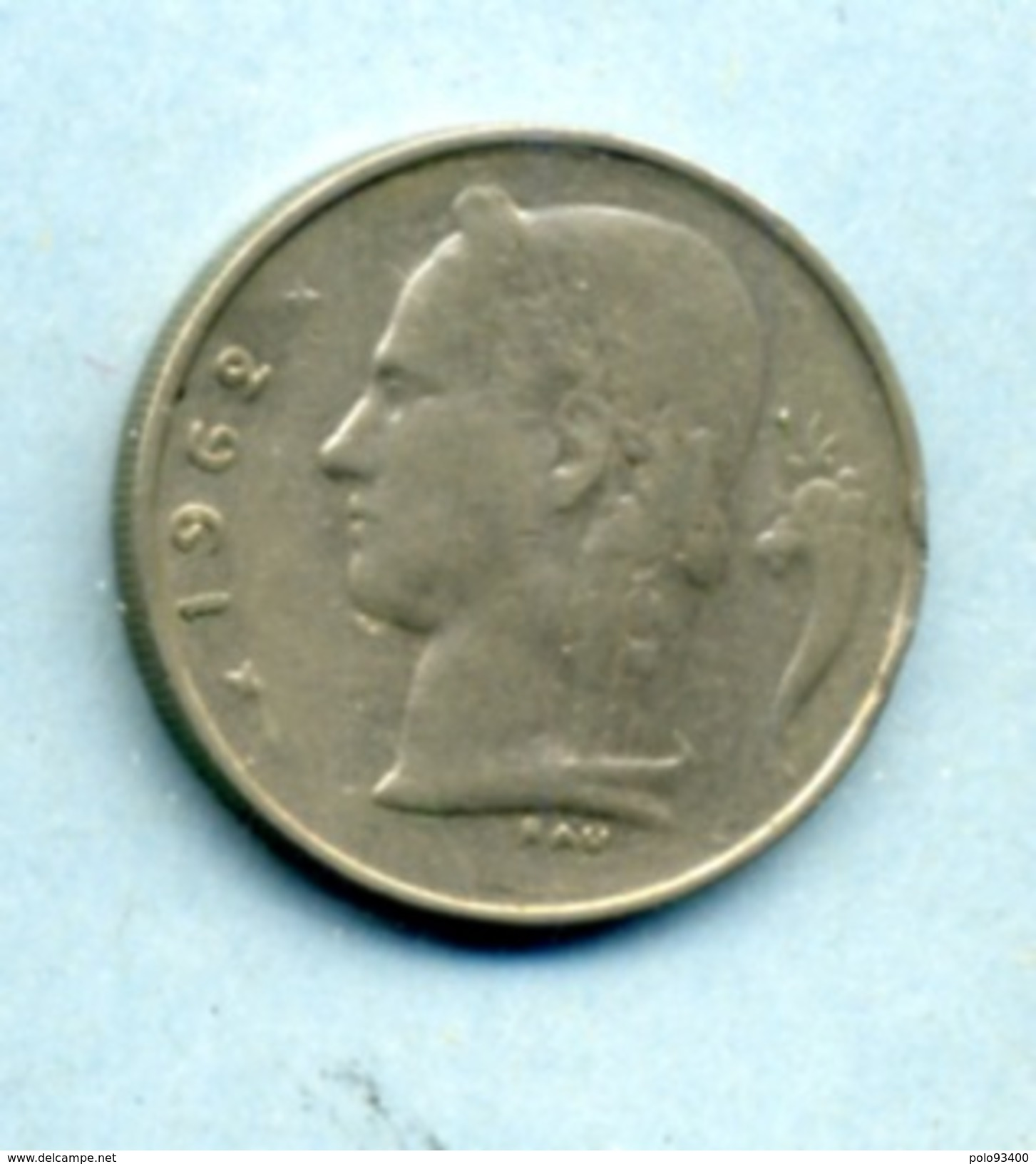1962  1 FRANC BELGIË - 1934-1945: Leopold III