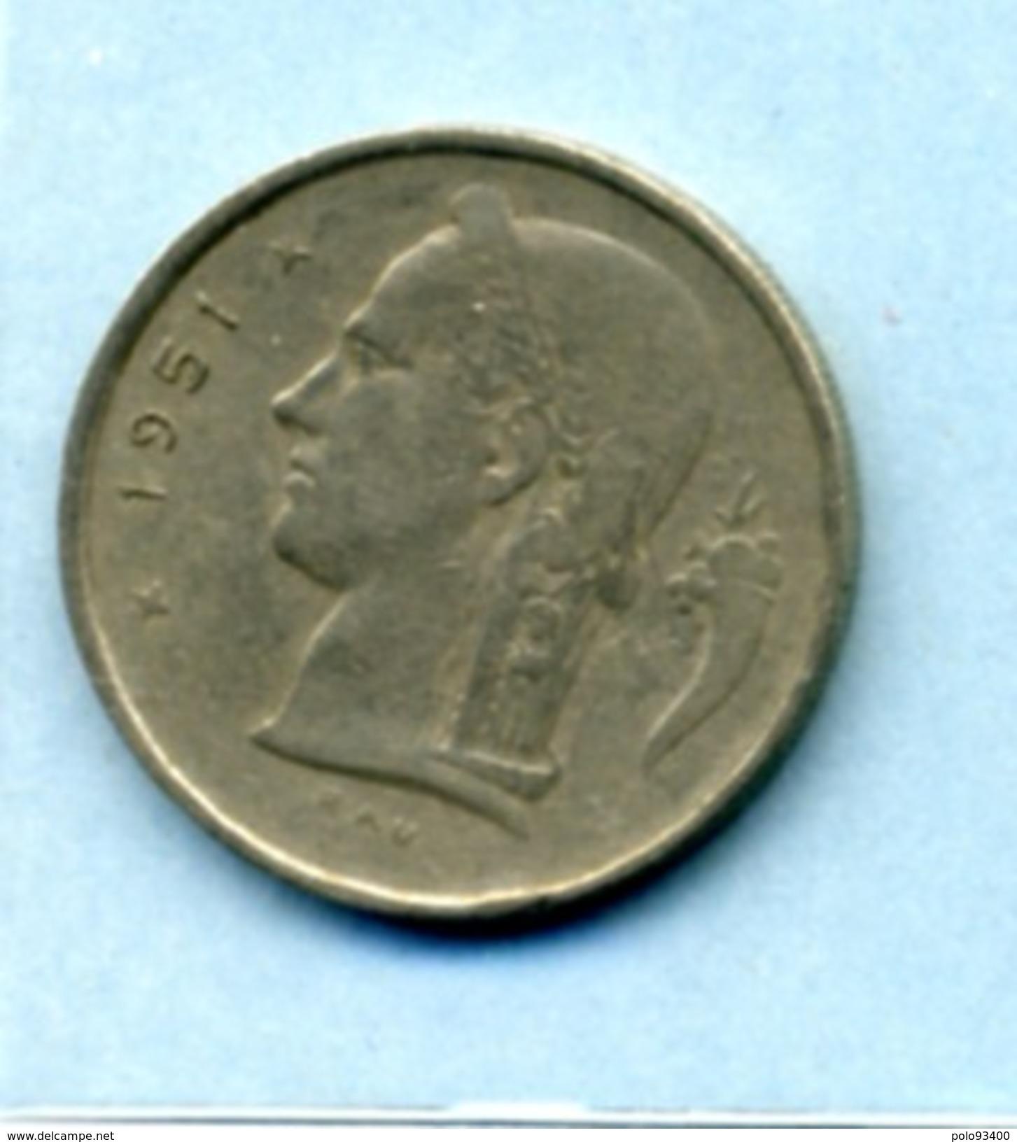 1951  1 FRANC BELGIQUE - 1934-1945: Leopold III