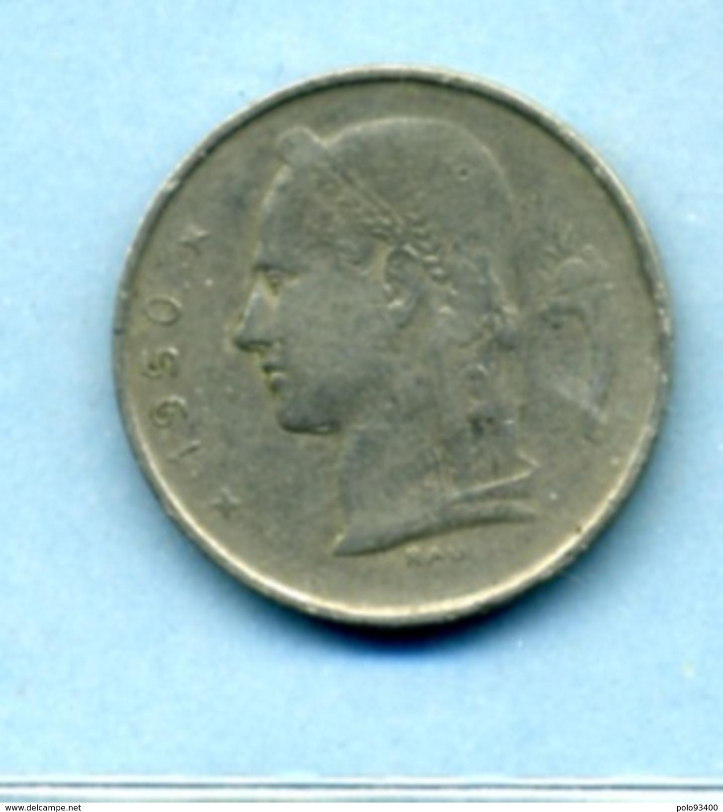 1950  1 FRANC BELGIQUE - 1934-1945: Leopold III
