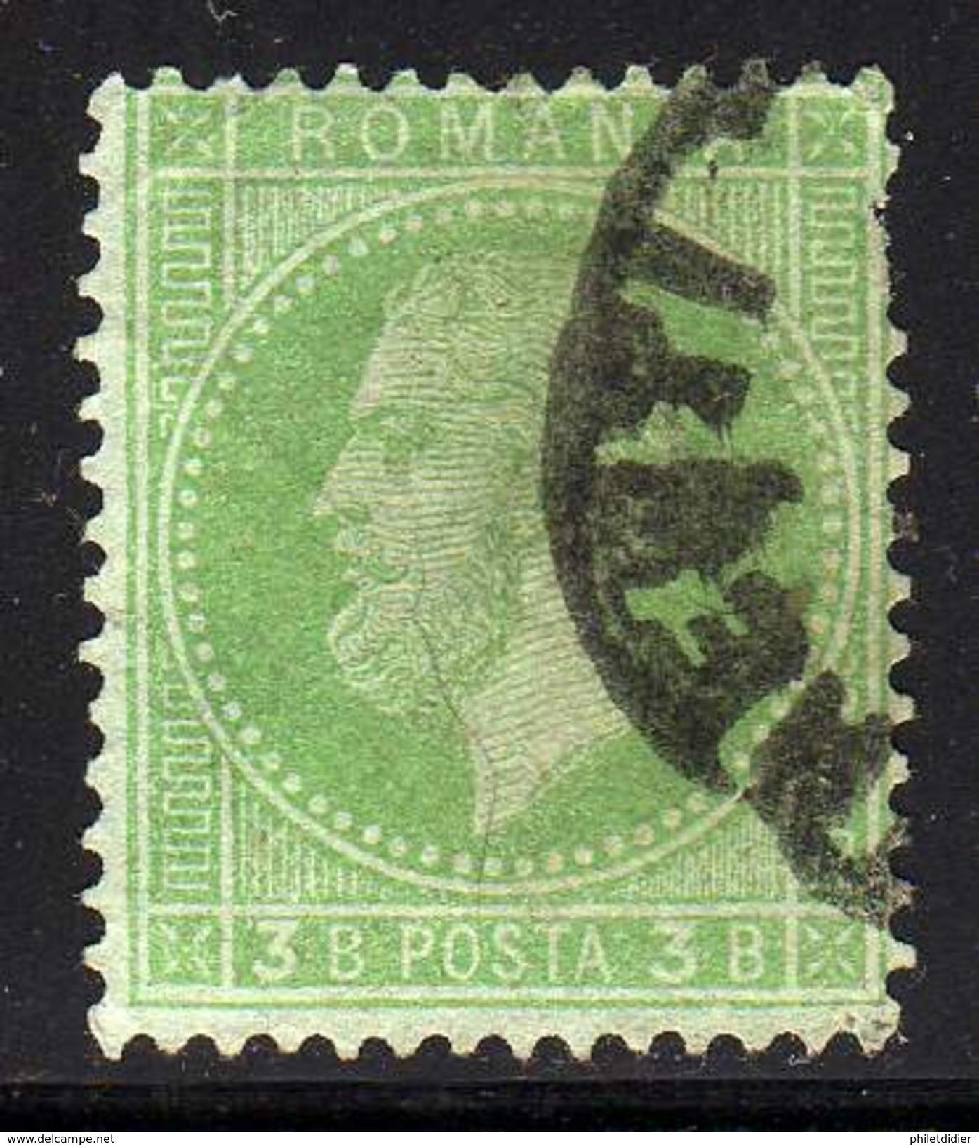 ROUMANIE YT 37 OBLITERE COTE 2.25 € - 1858-1880 Moldavia & Principato