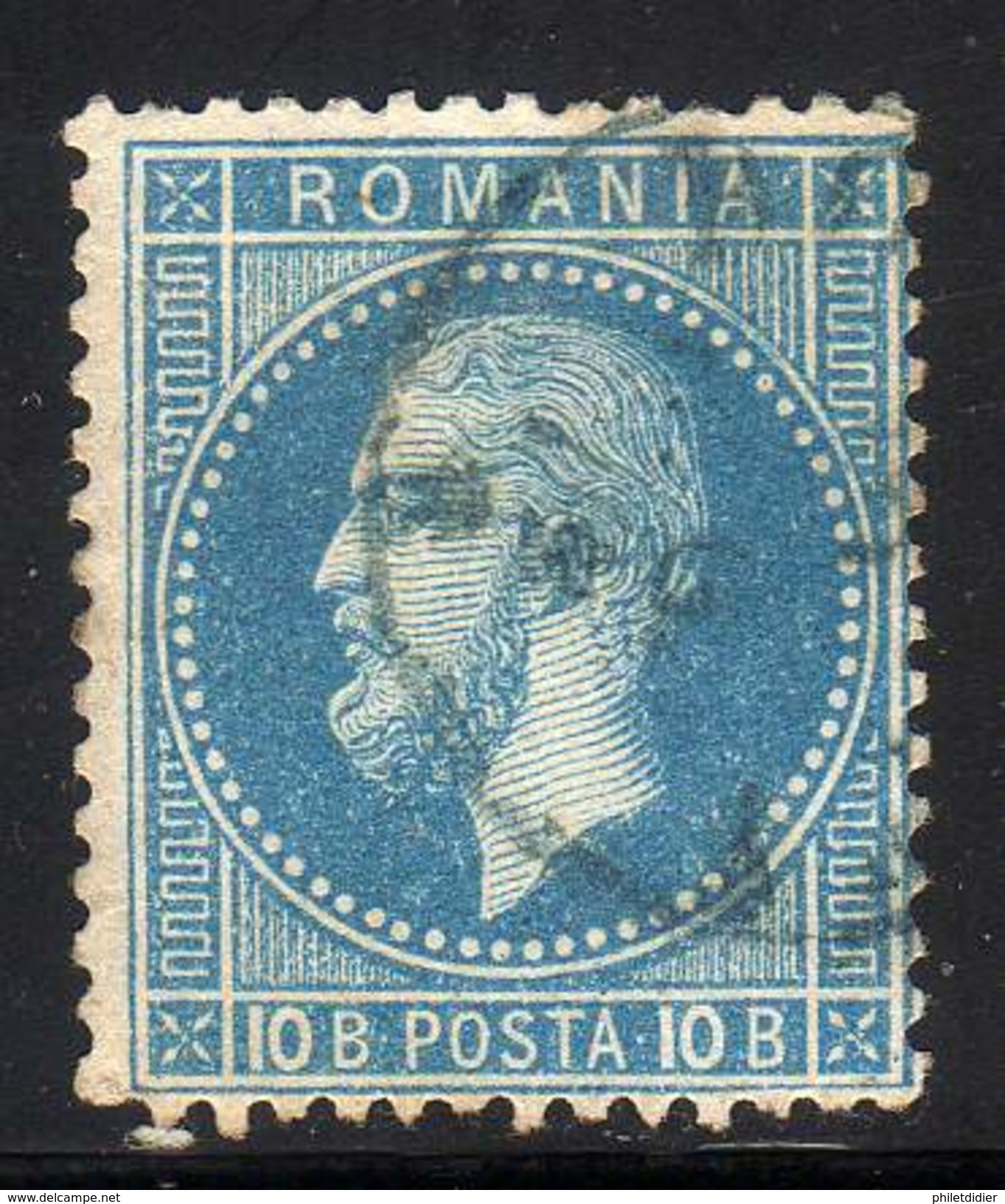 ROUMANIE YT 39 OBLITERE COTE 2 € - 1858-1880 Moldavia & Principato