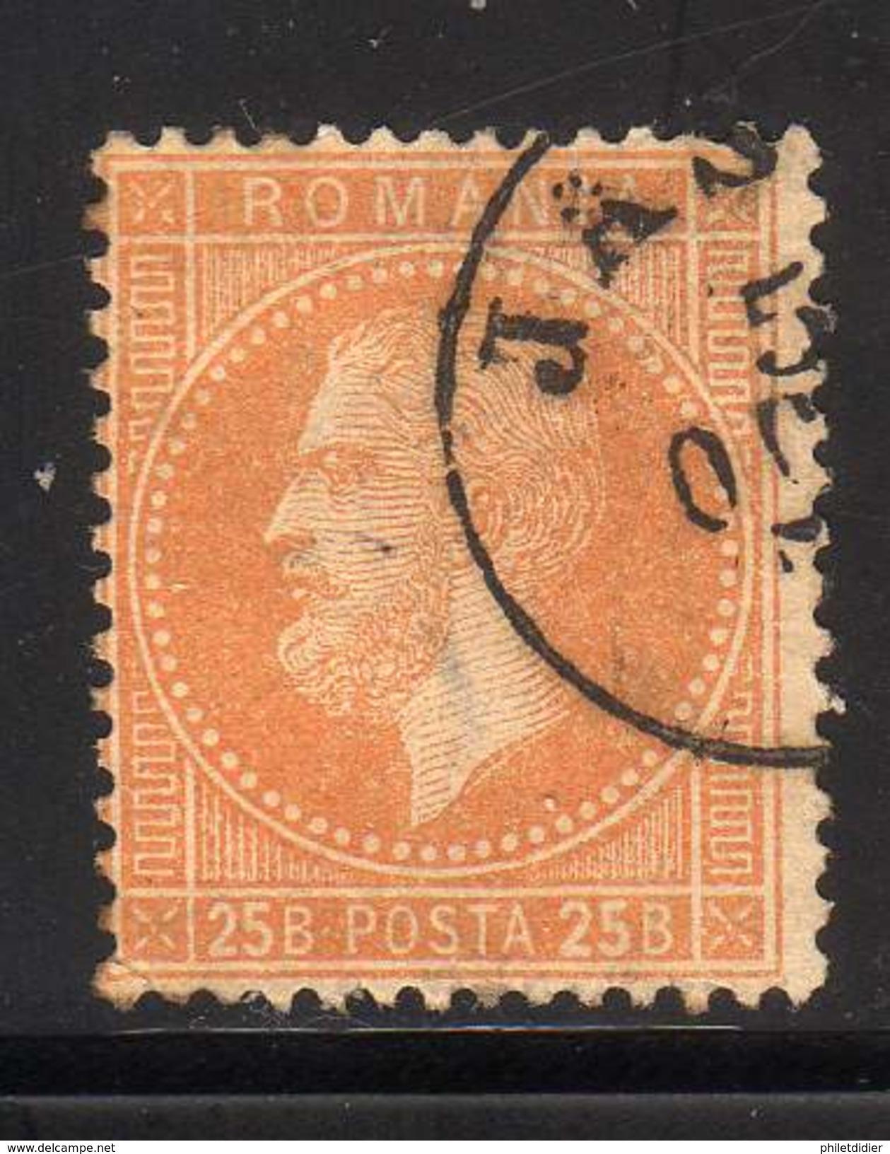 ROUMANIE YT 41 OBLITERE COTE 15 € - 1858-1880 Moldavia & Principato