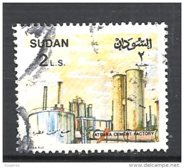 SUDAN  1991 Local Motives   YV. 405  ATBARA CEMENT FACTORY   USED - Sudan (1954-...)