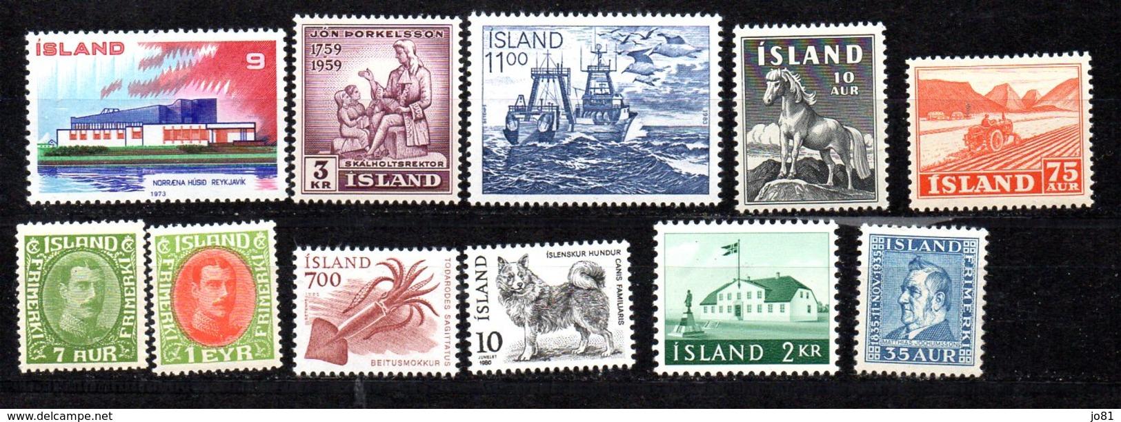 Islande Lot De Timbres XX/MNH - Islande