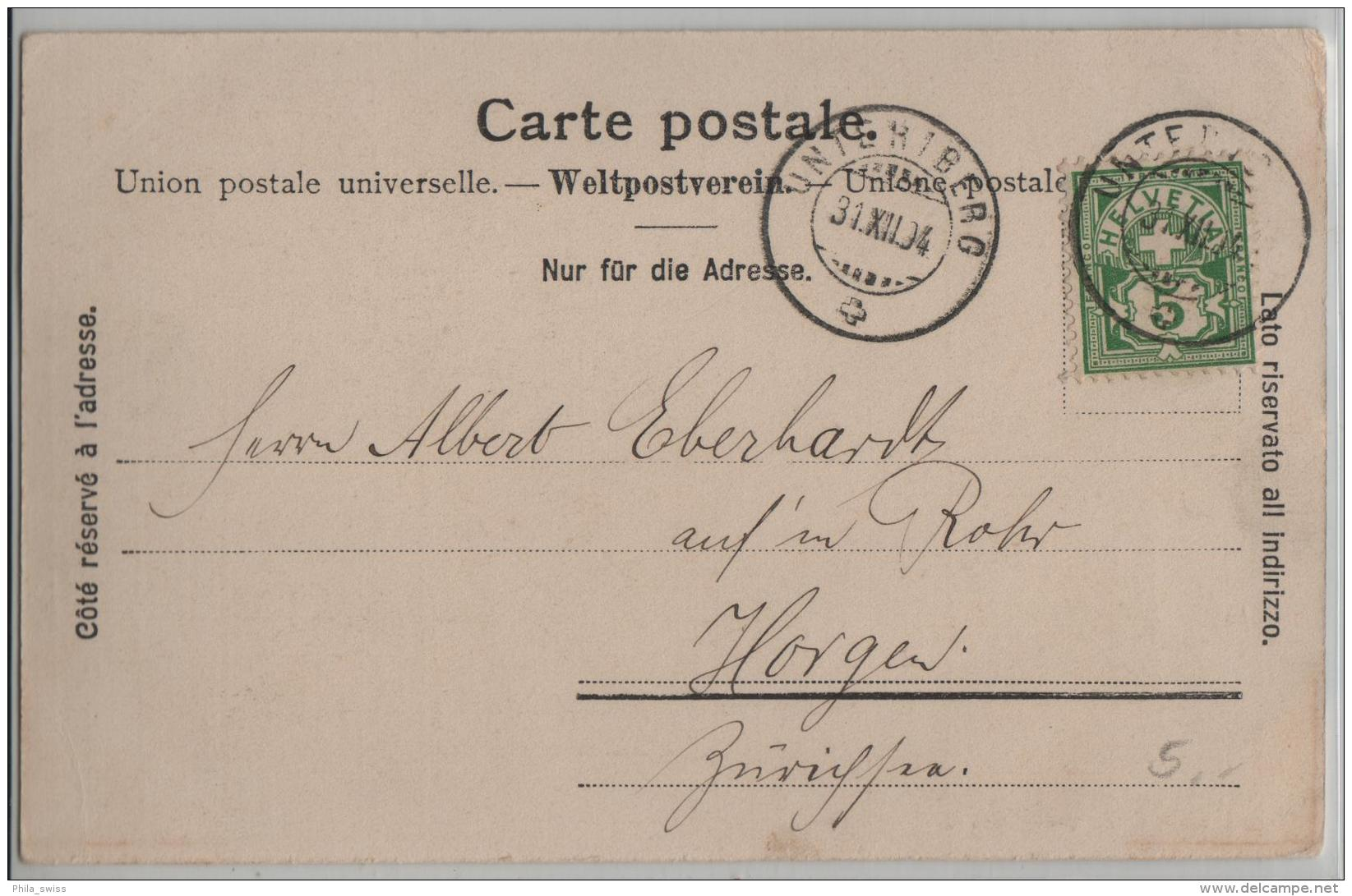 Unteriberg Von Der Hirschfluh Aus Gesehen - Photo: Casp. Triner - SZ Schwyz