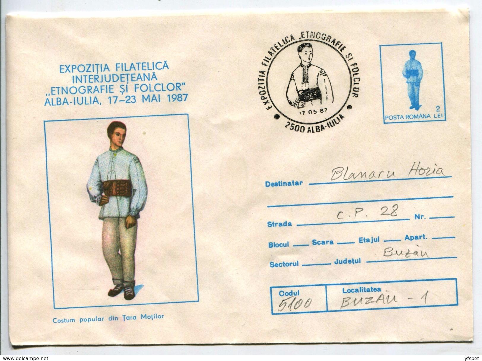 Man's Costume From Tara Motilor Region - Stationery (stamp : Costume) - Costumes