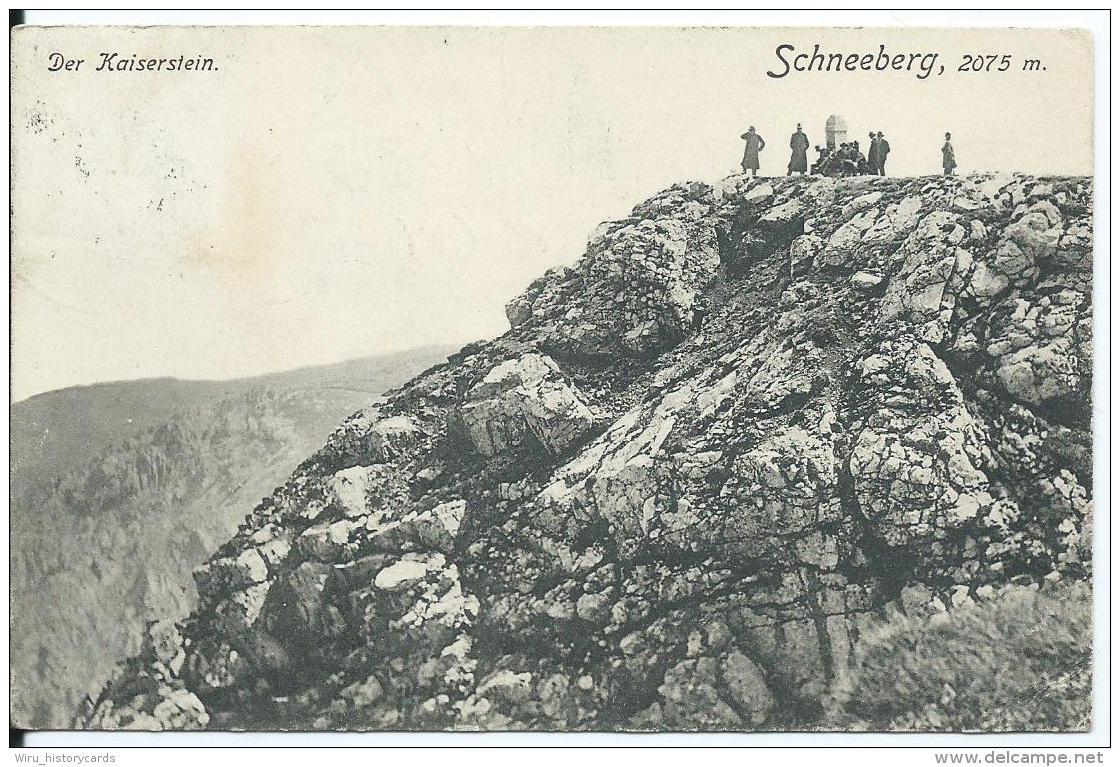 AK 0620  Schneeberg - Kaiserstein / Verlag Ledermann Um 1908 - Schneeberggebiet