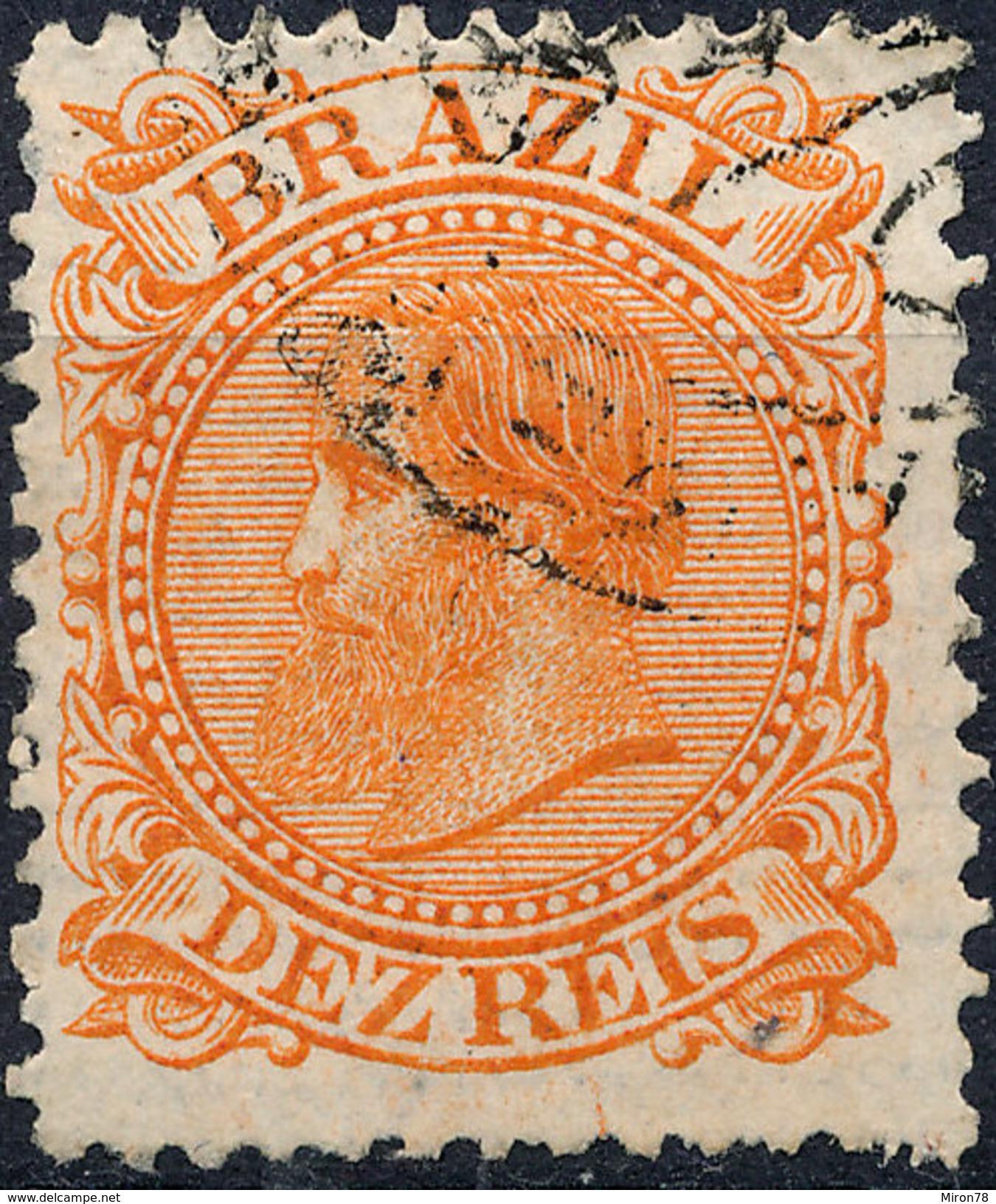Stamp Brazil 1884 10r Lot12 - Oblitérés