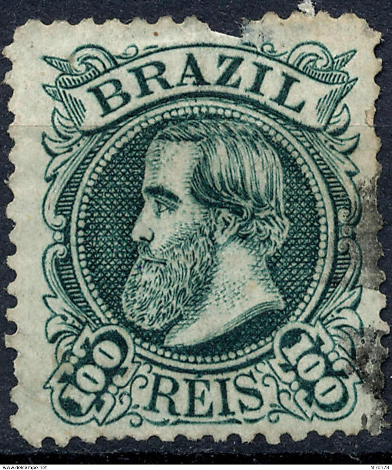 Stamp Brazil 1882 100r Lot#46 - Brésil