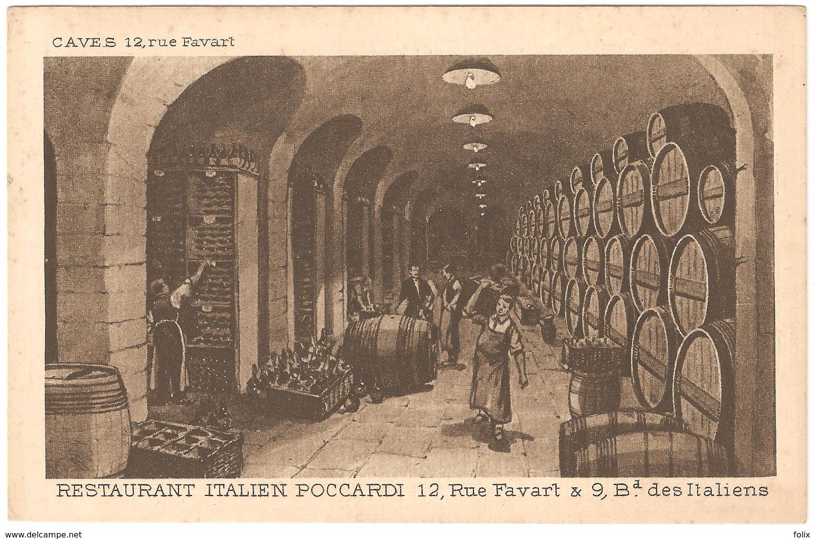 Restaurant Italien Poccardi 12, Rue Favart & 9 Bd Des Italiens - Caves - Cafés, Hoteles, Restaurantes