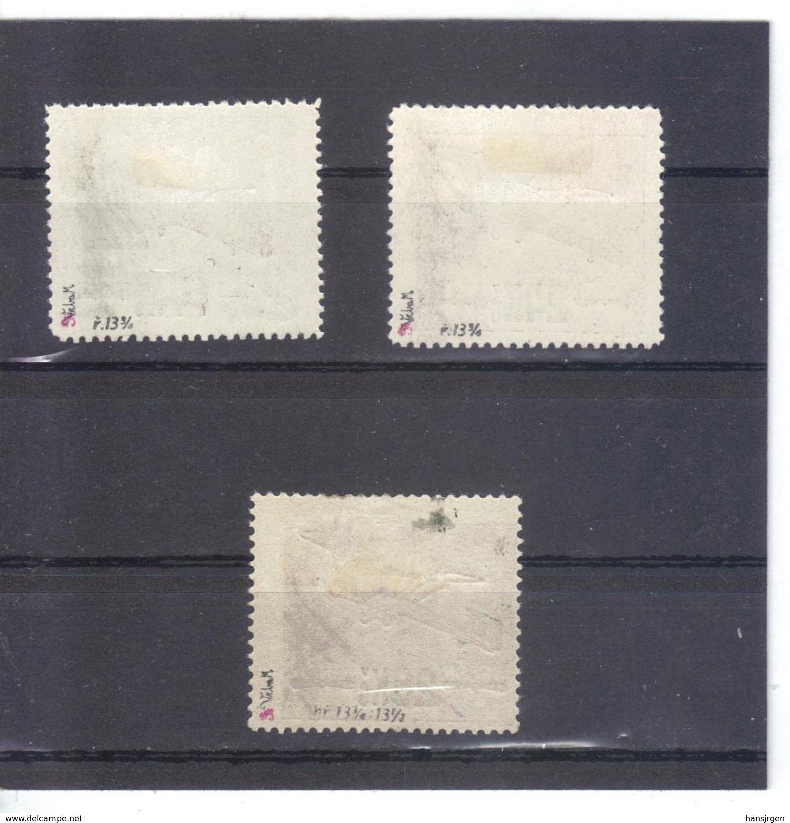 NEU71 TSCHECHOSLOWAKEI 1920 MICHL 192/93 B 194 C Geprüft  (*) FALZ Siehe ABBILDUNG - Tschechoslowakei/CSSR