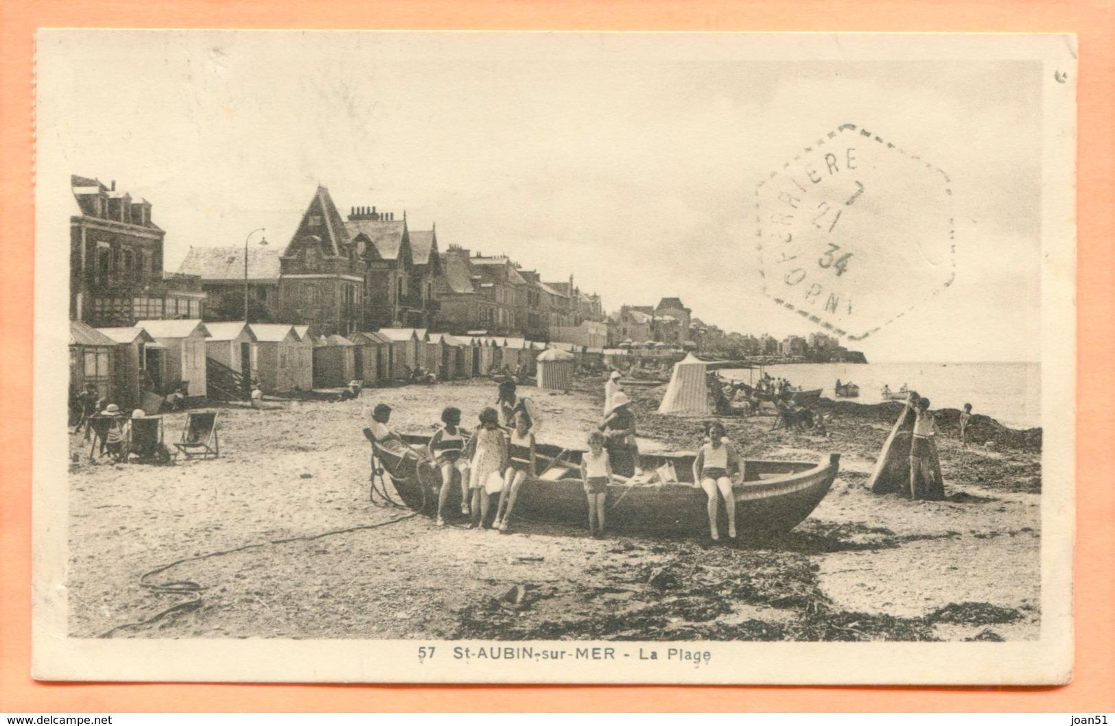 CP 1 SAINT AUBIN SUR MER LA PLAGE - Saint Aubin