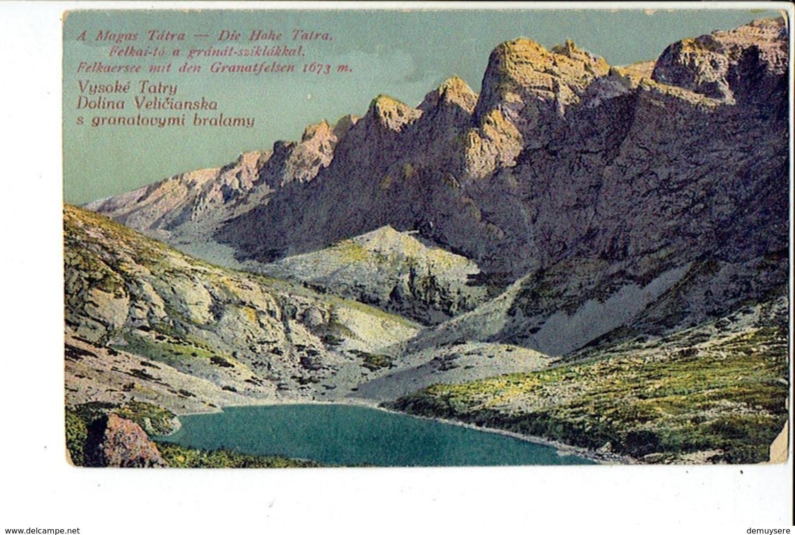 38819 Vysoke Tatry Dalina Velicianska S Granatovymi Bralamy - Slovacchia