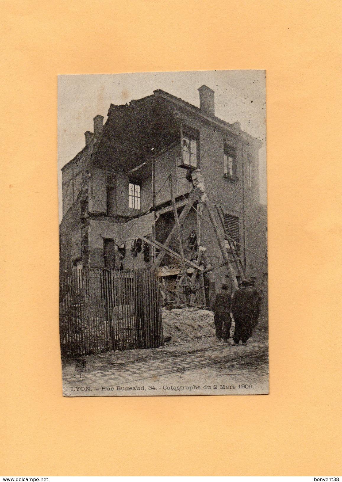 D1402 - LYON - 69 - Rue Bugeaud 34 - Catastrophe Du 2 Mars 1906 - Lyon