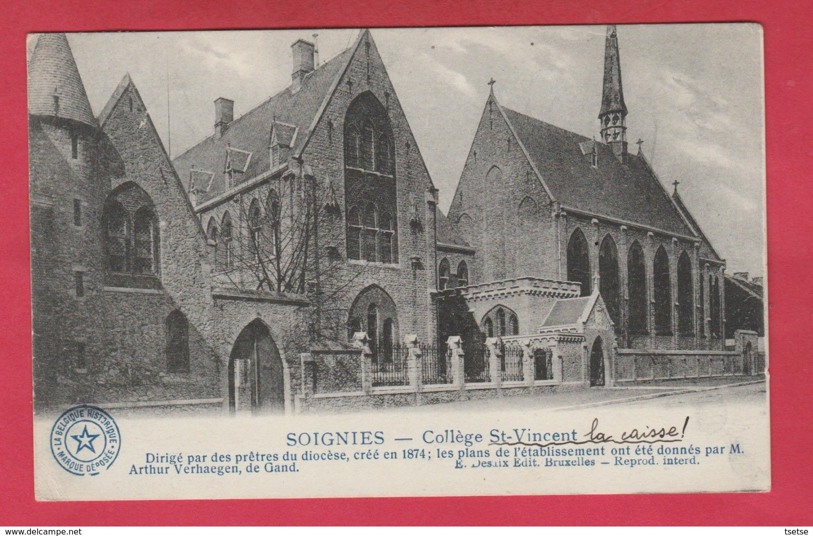 Soignies - Collège St-Vincent ... La Caisse !.... Historique - 1919 ( Voir Verso ) - Soignies