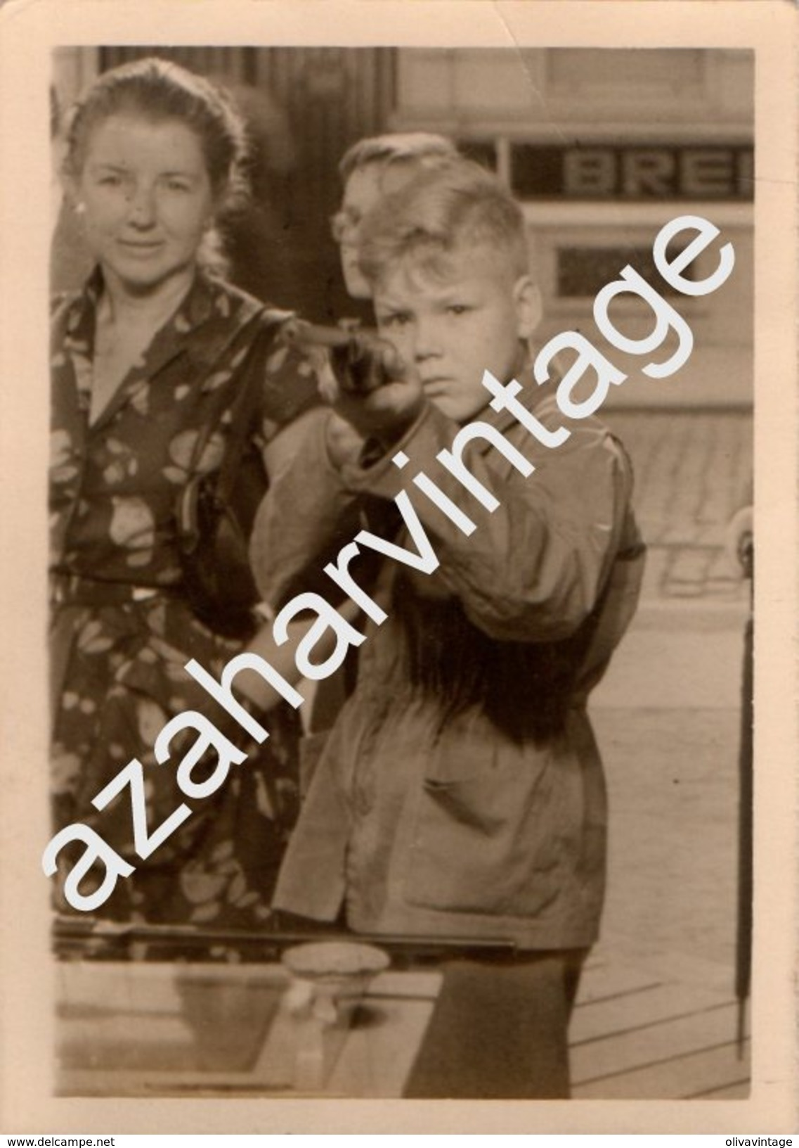 TIR A LA CARABINE PHOTO DE FOIRE FETE FORAINE STAND DE TIR MONTAGE PHOTO SURREALISME,75X105MM - Personnes Anonymes