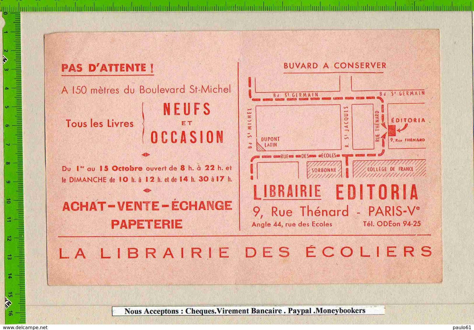 BUVARD  :Librairie Editoria Tout Les Livres - Papeterie