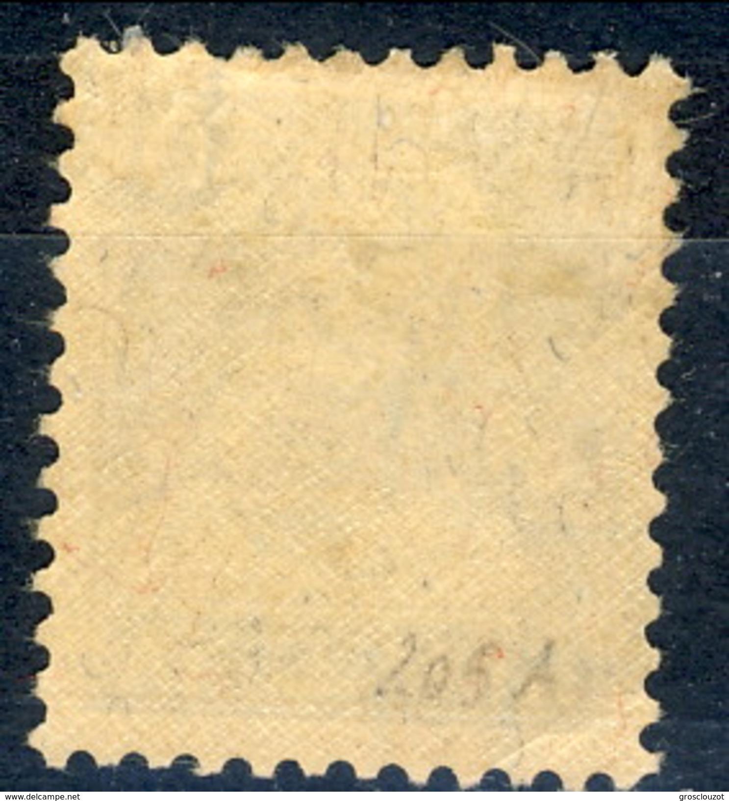Svizzera 1924 - 28 N. 205A C. 30 Azzurro Carta Goffrata MVLH, Tracia Di Linguella Leggerissima, Invisibile Cat. € 2 - Svizzera