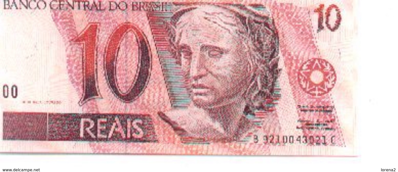 Billete Brasil. P-245. 10 Reais 1994. Plancha. (ref. 6bra-245) - Brasil