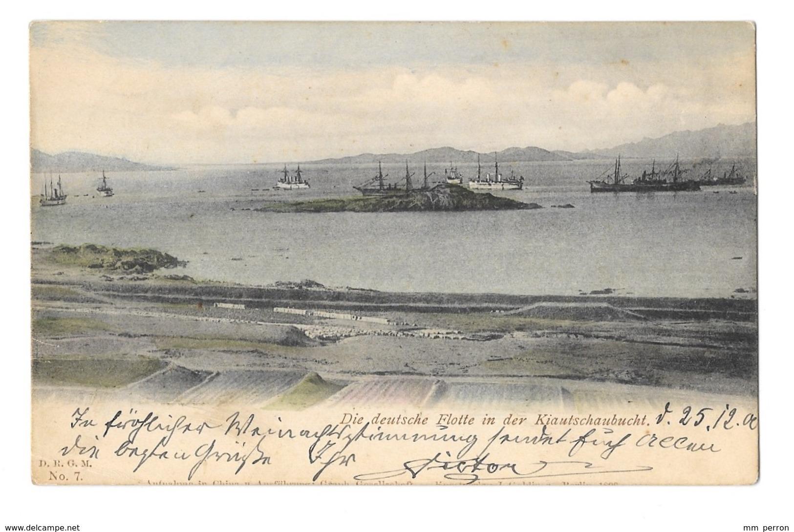 (12905-00) Die Deutsche Flotte In Der Kiautschaubucht - Bateau De Guerre - Krieg
