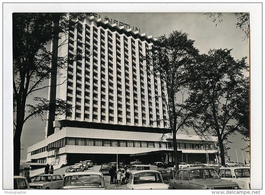 Allemagne Rostock Nouvel Hotel Neptun Automobiles Ancienne Photo 1971 - Places