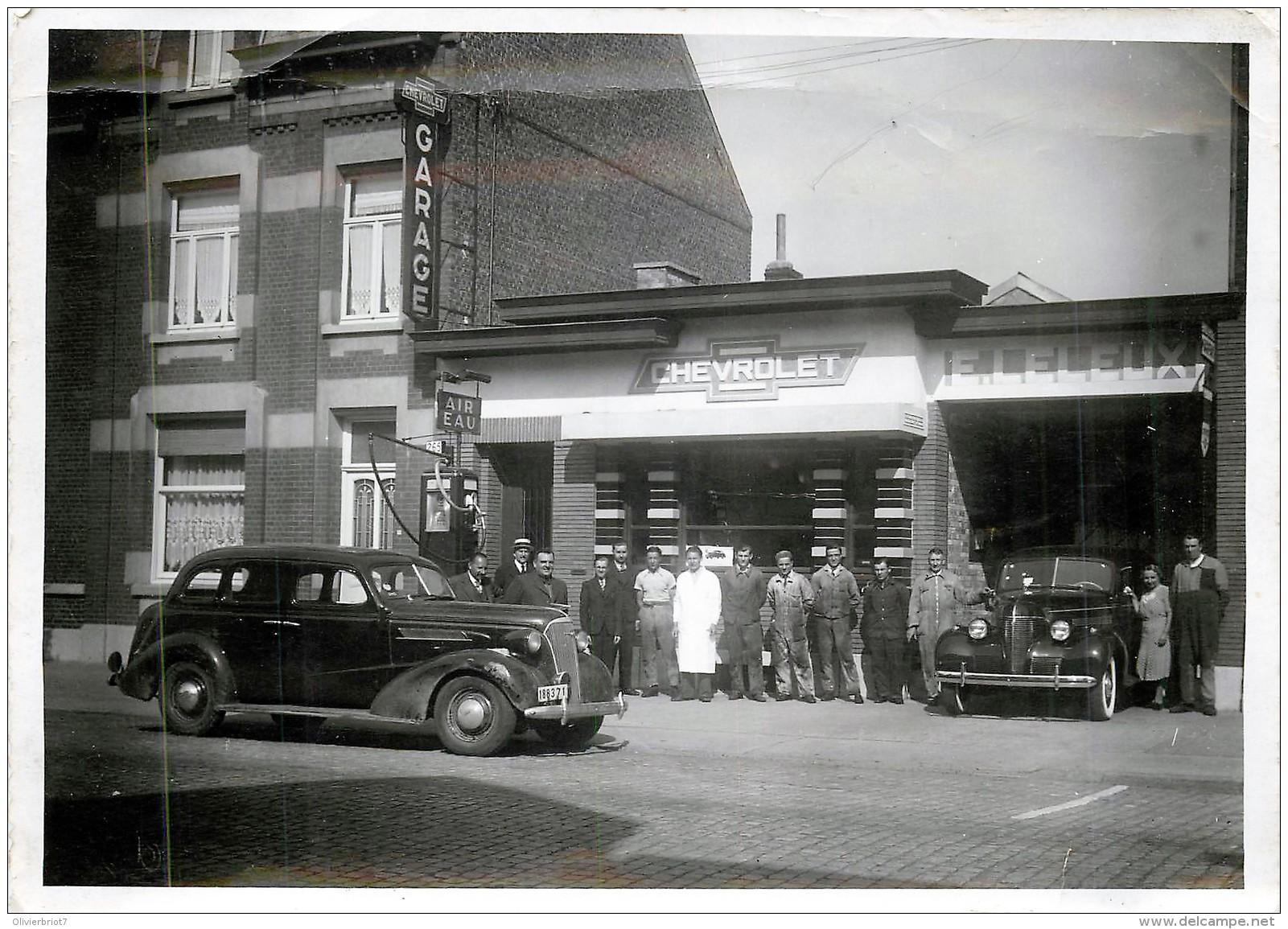 Belgique - Ath - 2 Cartes-Photo + 1 CPA  - Garage Leleux Chaussée De Bruxelles - Mai 1939 - Ath