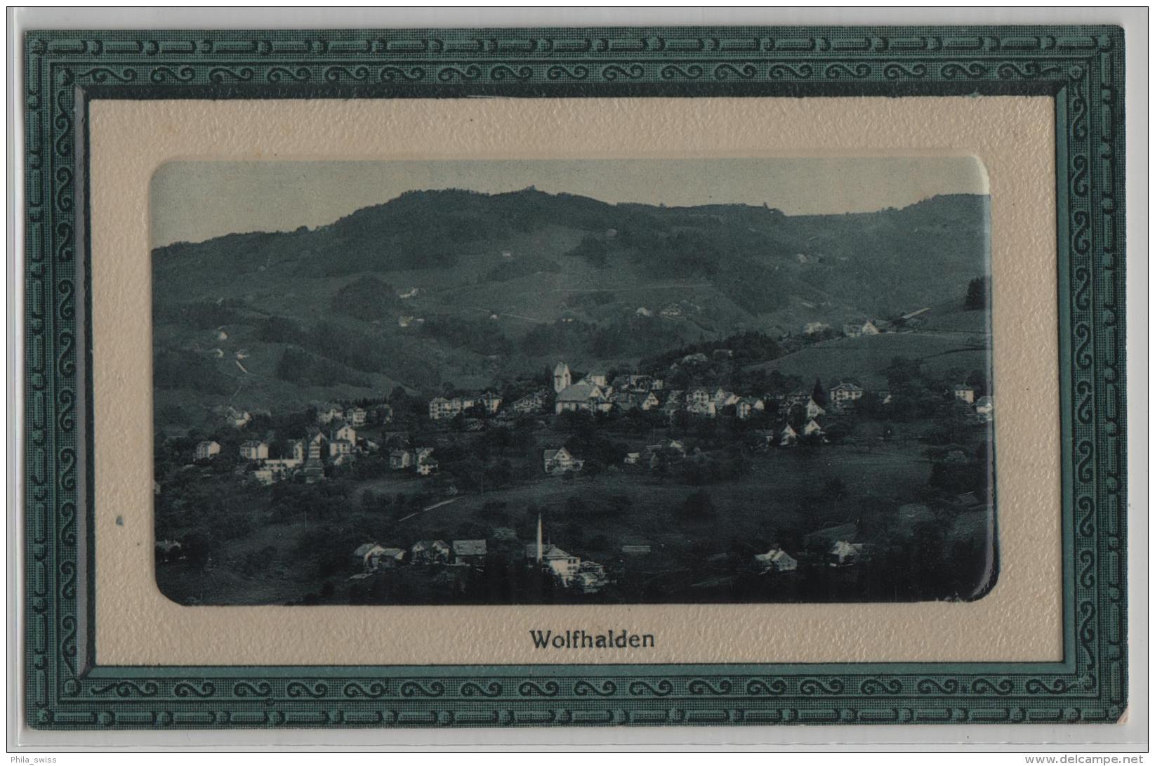 Wolfhalden - Präge Karte G. Metz - AR Appenzell Rhodes-Extérieures