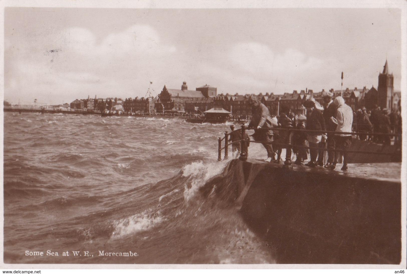 MORECAMBE - SOME SEA AT W. F. VG AUTENTICA 100% - Angleterre