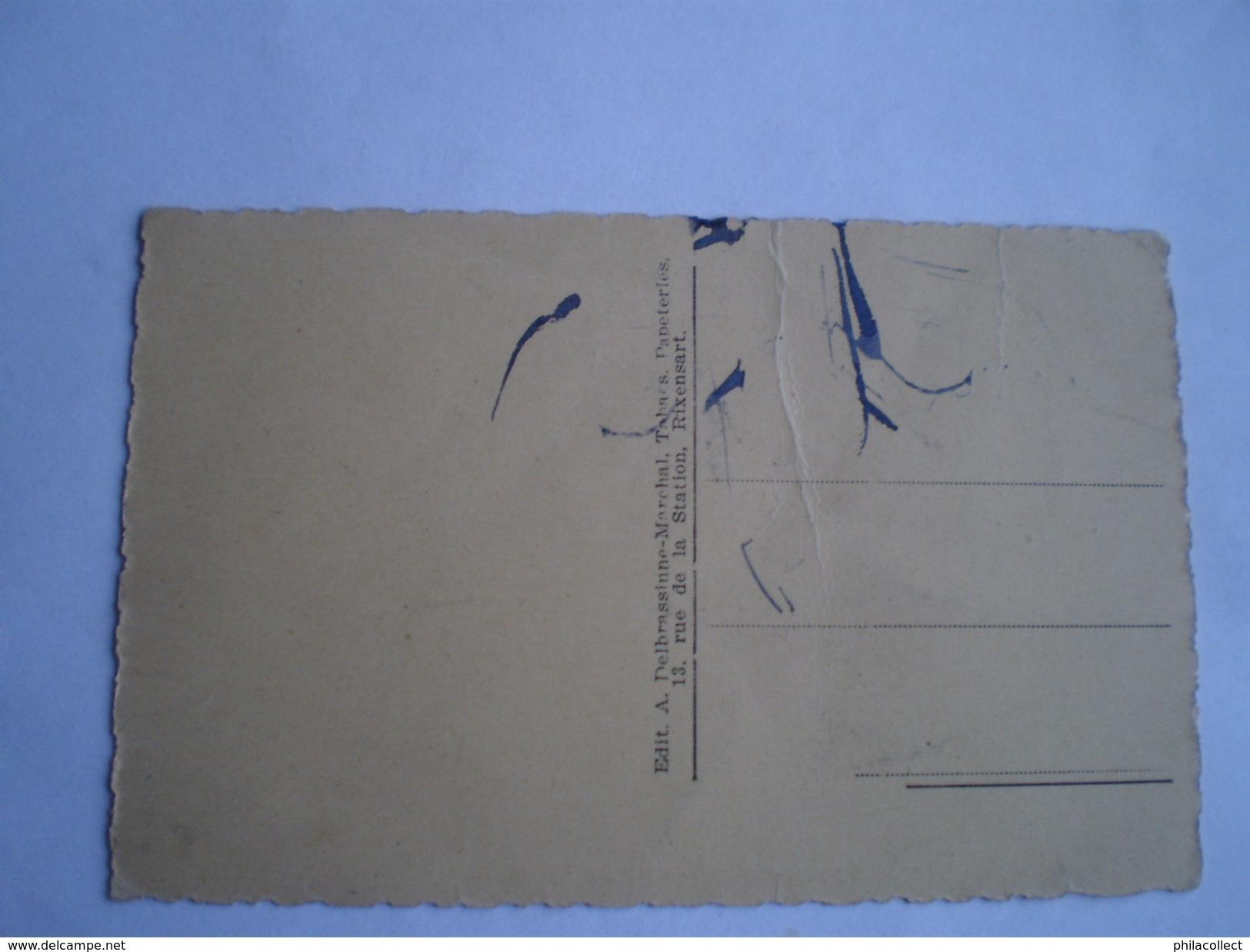 Rixensart Bourgeois //  La Grand Place 19?? Ed. A. Delbrassinne Marchal // Vouw - Fold - Rixensart