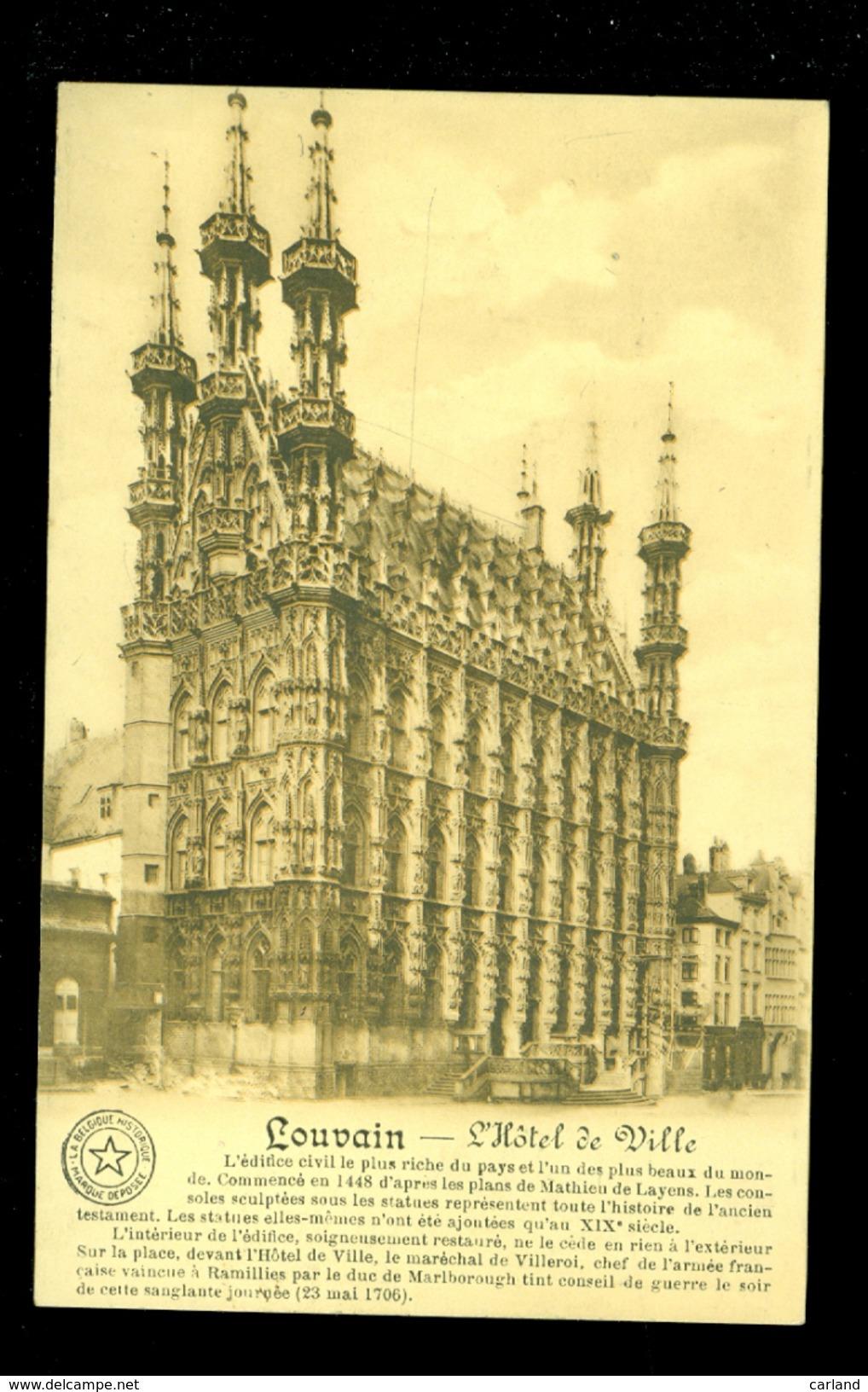 Reclame  Publicité Cartes Postales  Carte Postale  Postkaarten  Postkaart - Imprimerie E.DESAIX , Aywaille - Vue Louvain - Publicidad