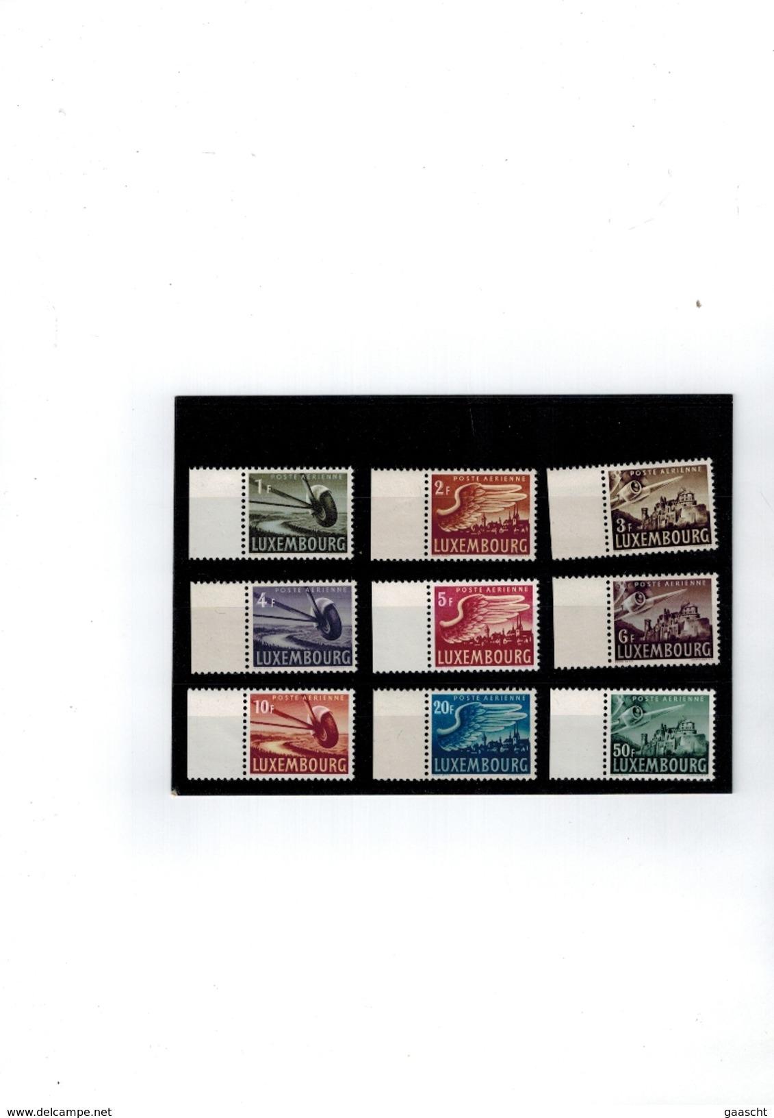 Luxembourg Serie Poste Aerienne De 1946 Neuve Sans Charniere - Nuevos