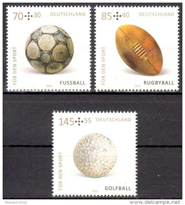 Bund MiNr. 3235/37 ** Sporthilfe: Sportbälle - [7] Repubblica Federale