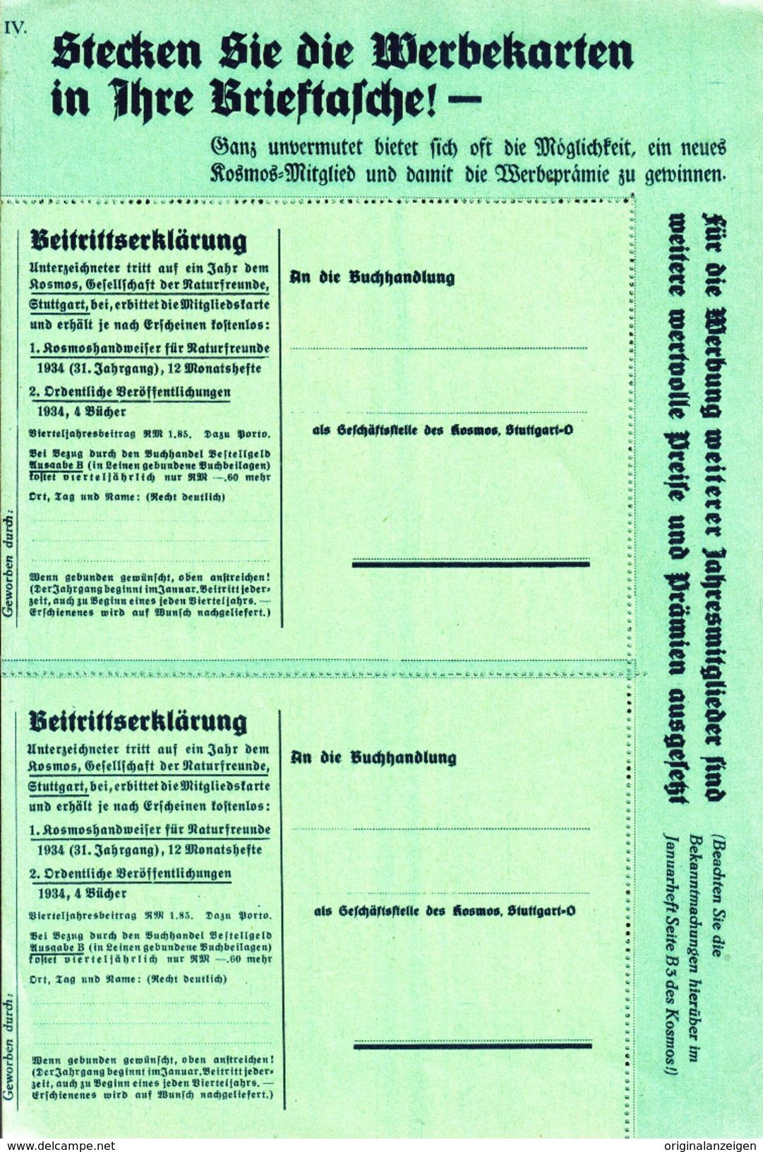 Original-Werbung/Prospekt 4-seiter 1934 - LORENZ : INSELSCHICKSALE / KOSMOS WERBEPRÄMIE/ OSTERINSEL - Je Ca.160 X 240 Mm - Werbung