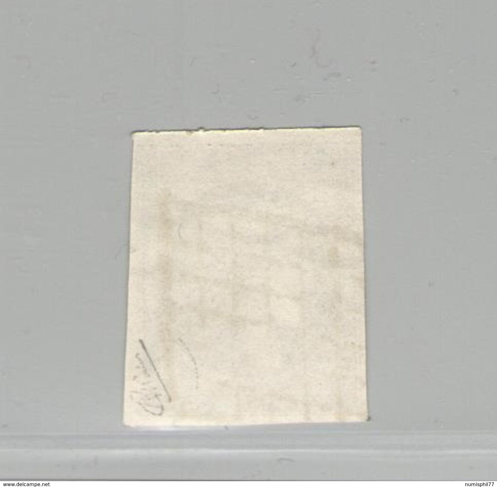 FRANCE -  Cérès N°Y&T 3 Oblit. Grille - 20 C Noir Sur Jaune - Signé Calves TTB - 1849-1850 Cérès
