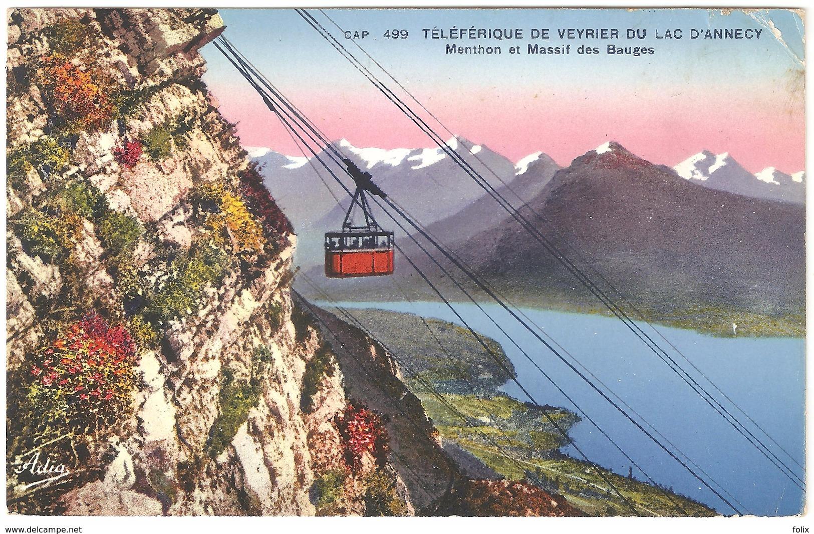 Veyrier Du Lac - Téléférique De Veyrier Du Lac D'Annecy - Menthon Et Massif Des Bauges- 1939 - Veyrier