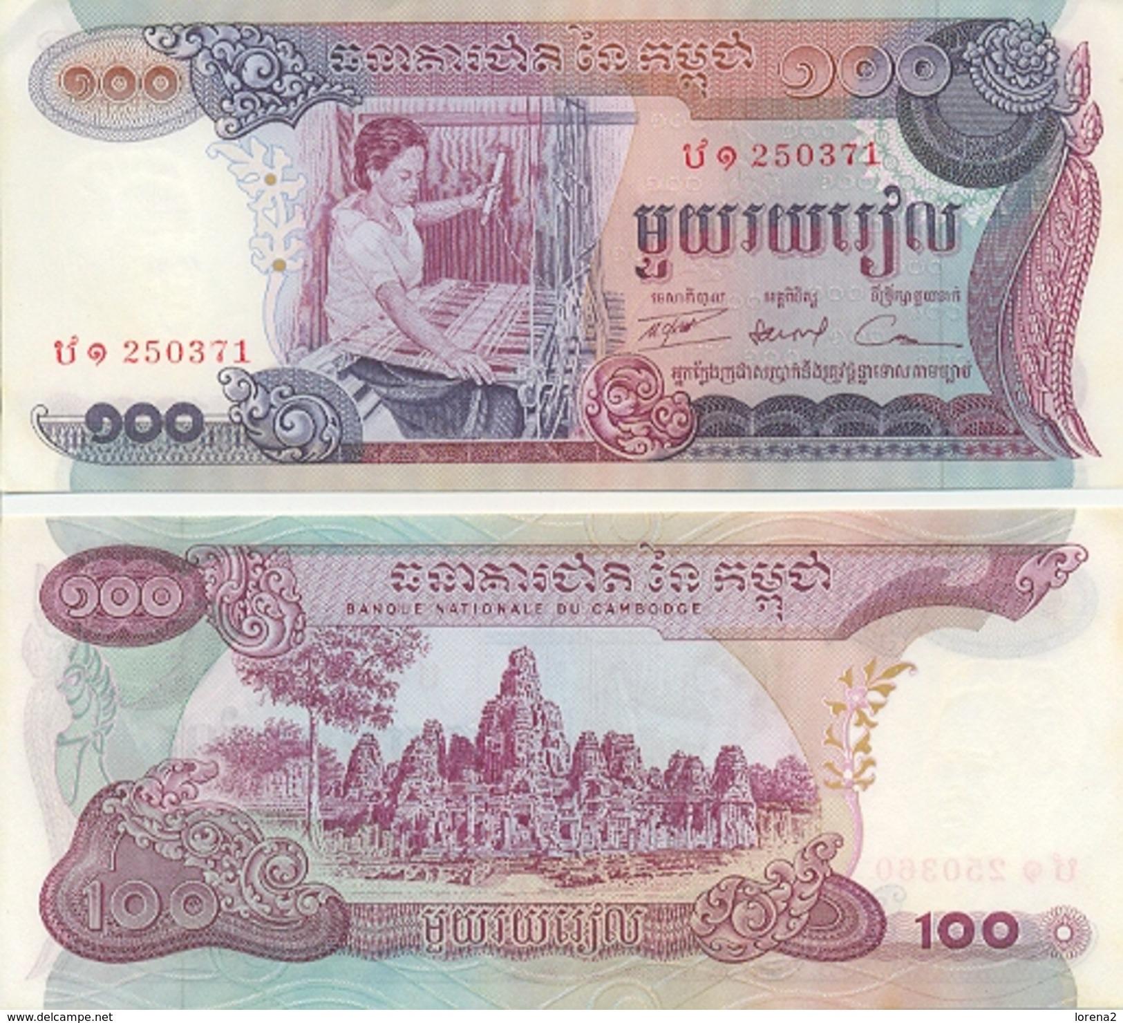 Billete Camboya P-15. 100 Riels . (ref. 6-793) - Cambodia