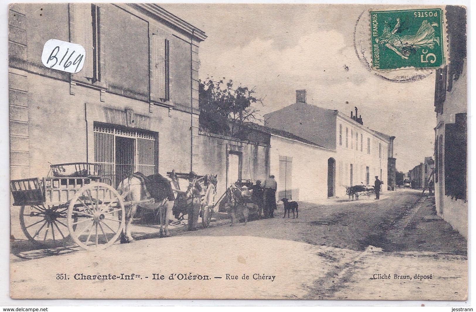 ILE D OLERON--LA BOUCHERIE-LES BEAUX ATTELAGES- RUE DE CHERAY - Ile D'Oléron