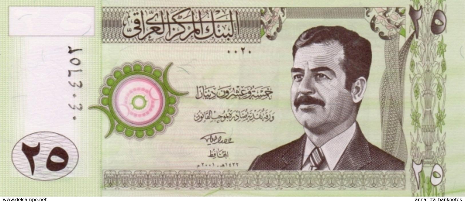 IRAQ 25 DINARS 2001 P-86 UNC [IQ342a] - Iraq