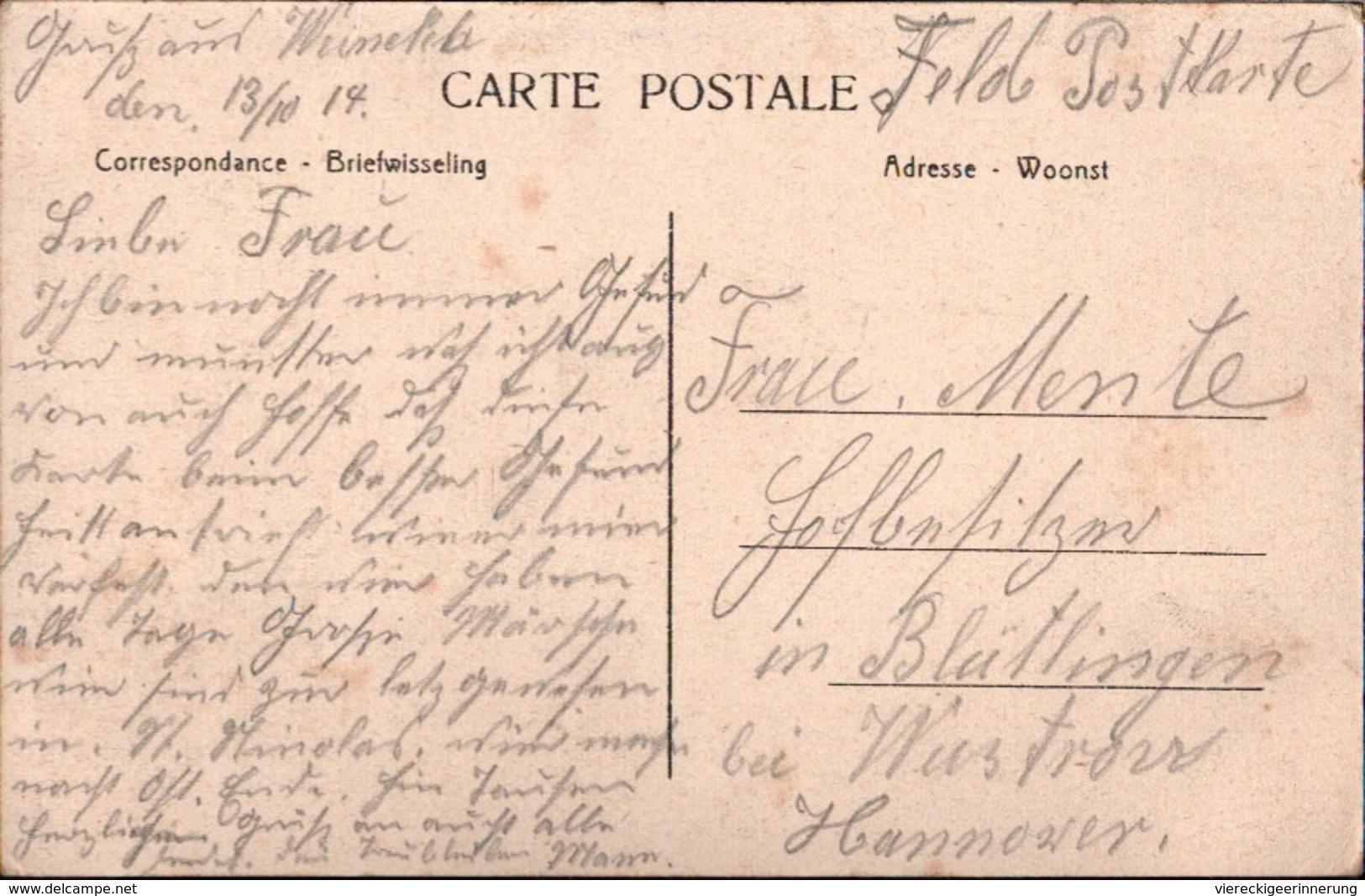! Belgien, Wynckel Ste Kruis, Sint Kruis, Winkel, De Melkerij, Feldpost 1914 - Gent