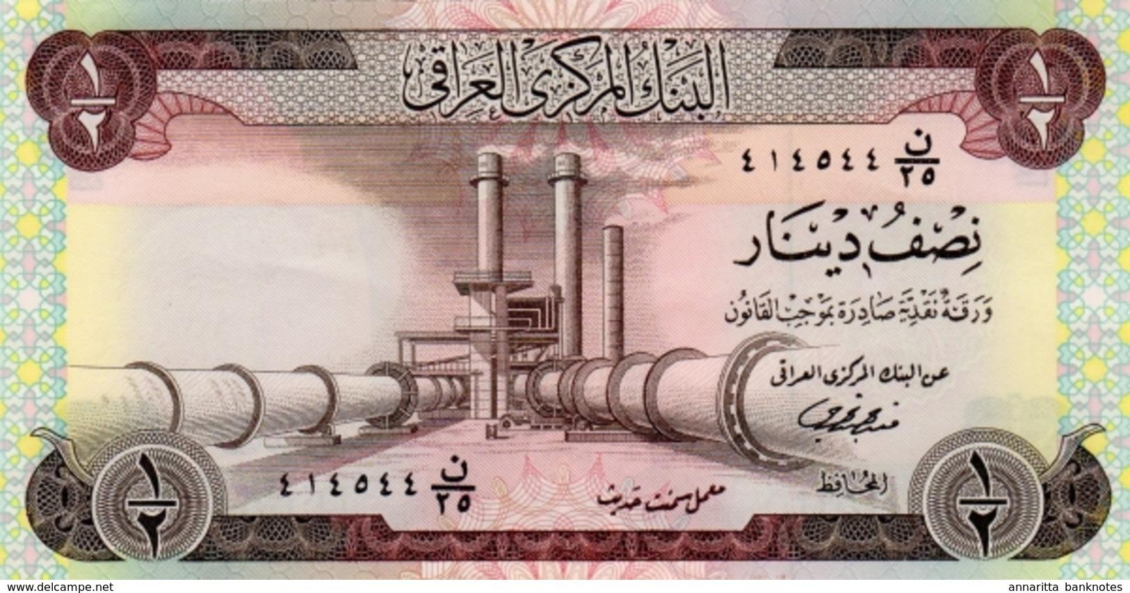 *  IRAK 1/2 DINAR ND (1973) P-62 NEUF [IQ319b] - Iraq