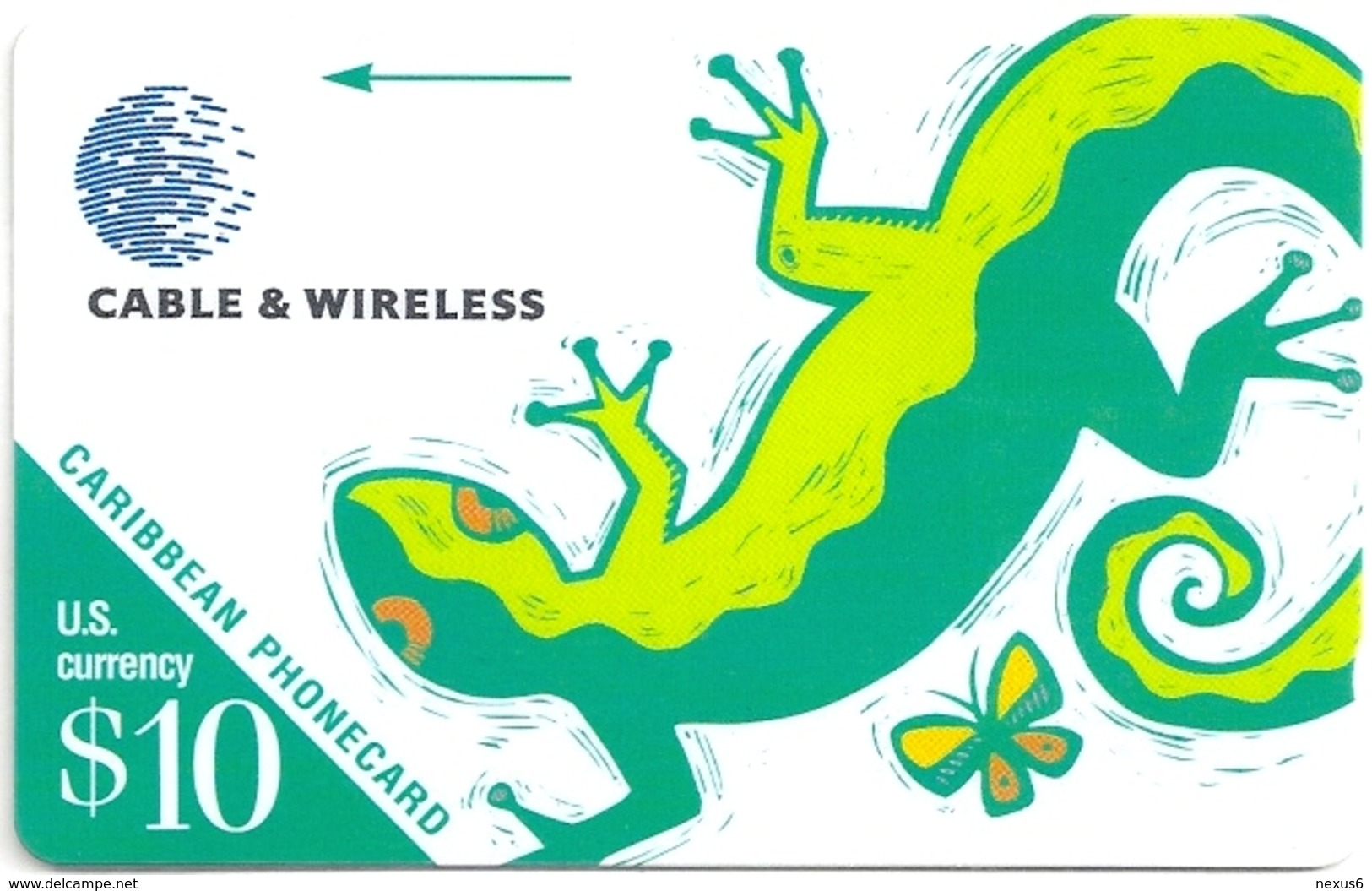 Caribbean Islands - Lizard - 213BCAA - 1998, Used - Schede Telefoniche