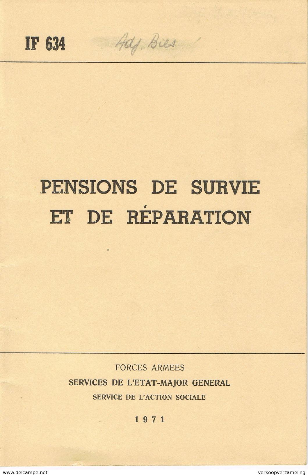 ABL Pensions De Survie Et De Reparation 1971 - Francese