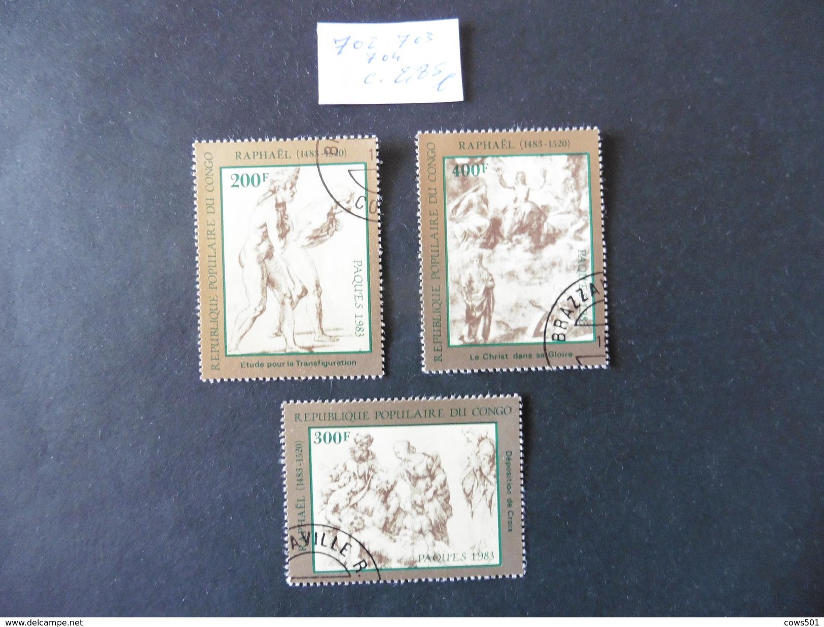 Congo : 3  Timbres Oblitérés - Collections