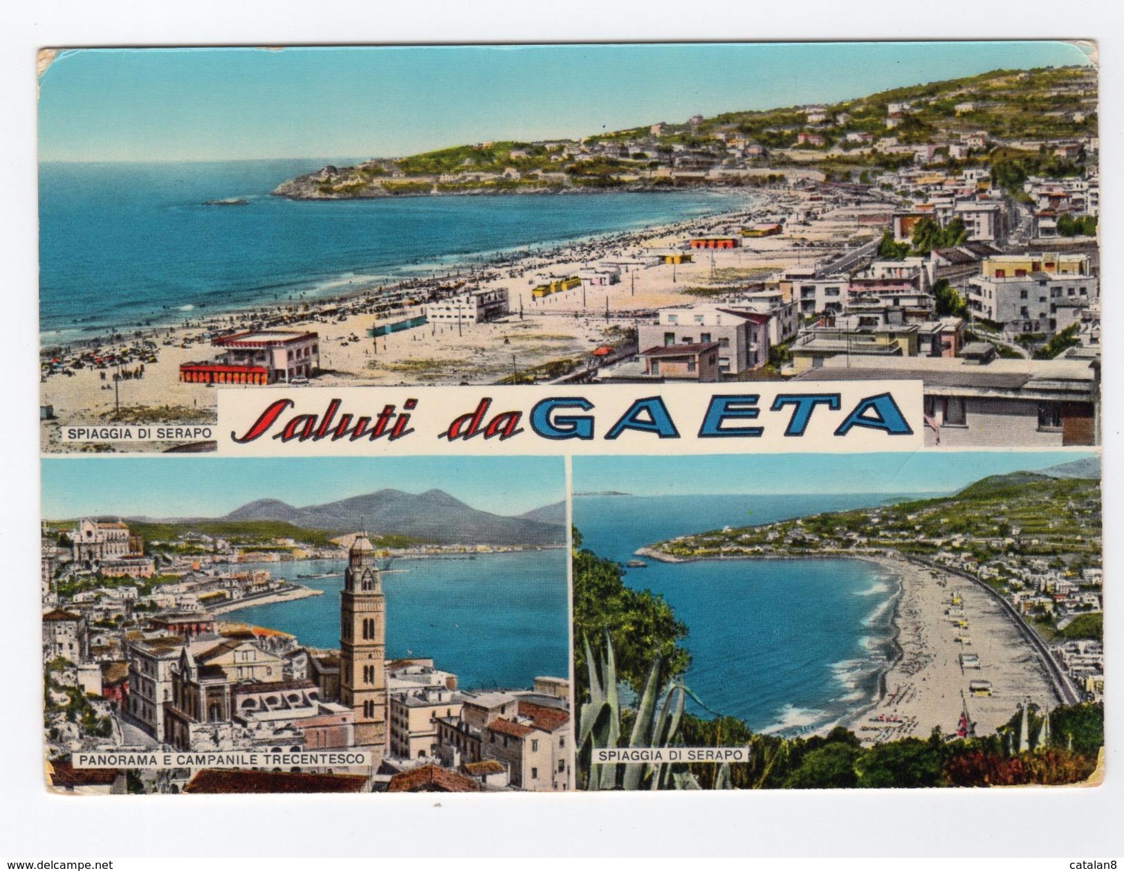 S6141 LATINA SALUTI DA GAETA VEDUTE VEDUTINE - Latina