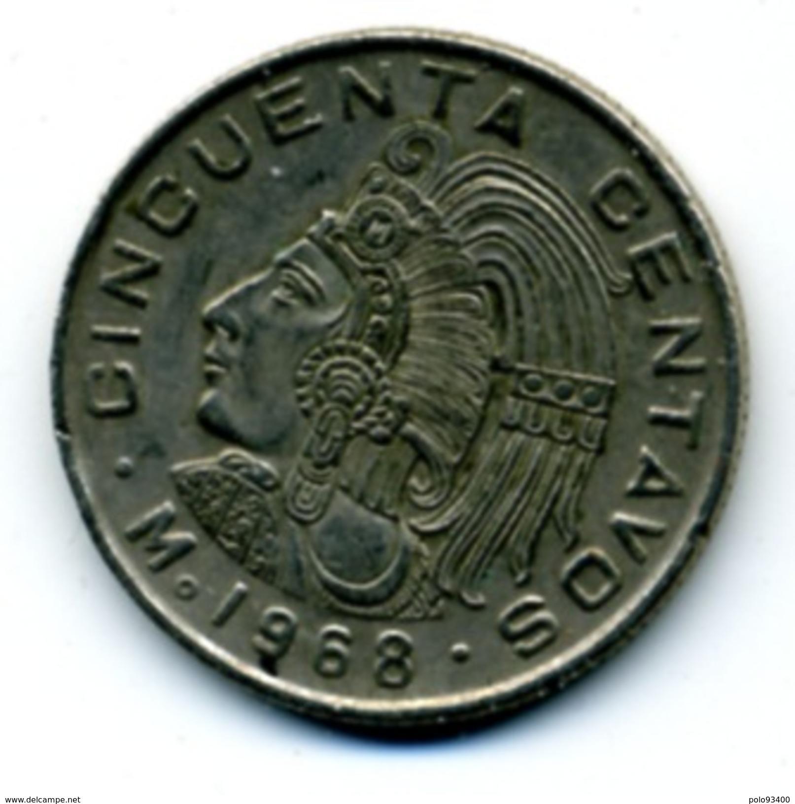 1968 50 CENTAVOS - Mexico