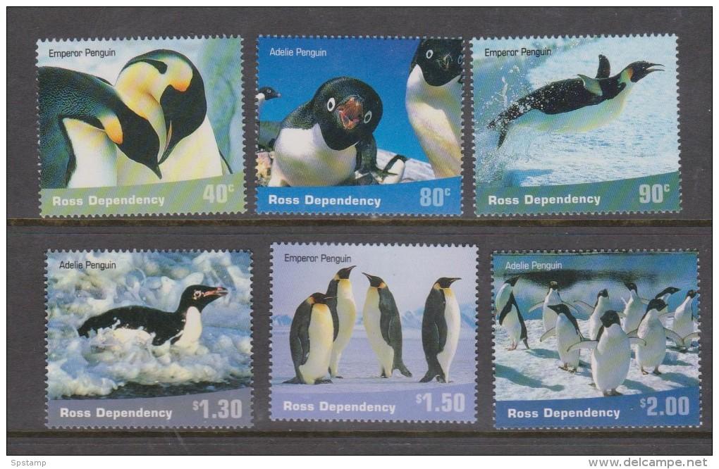 Ross Dependency 2001 Penguin Bird Set 6 MNH - Unclassified