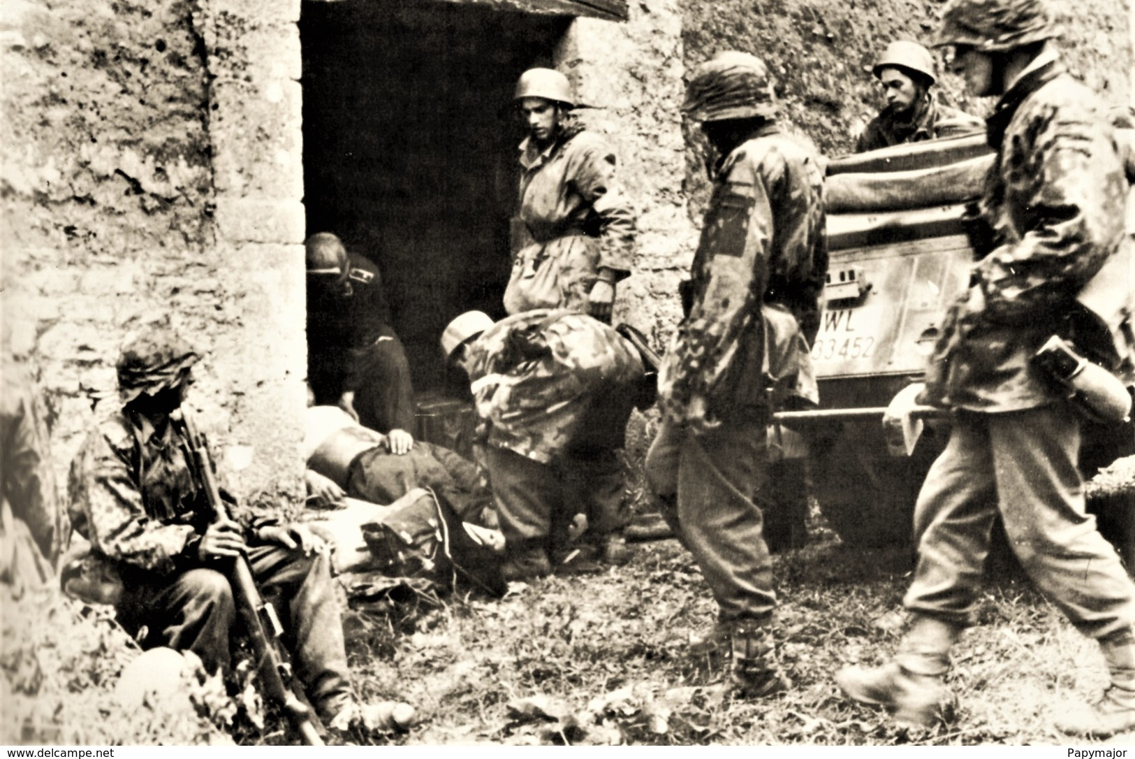 Militaria WW2  - Carentan 12.06.44 6 Paras Allemands Du 6° Régiment De Von Der Heydte - 1939-45